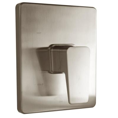 Kubos Single-Handle 1-Spray Square Shower Faucet in Brushed Nickel (Valve Included)
