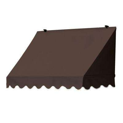 4 ft. Traditional Manually Retractable Awning (26.5 in. Projection) in Cocoa