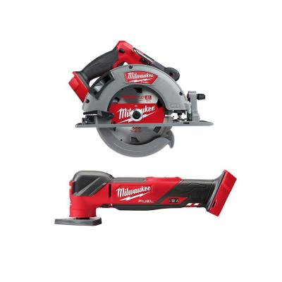 M18 FUEL 18-Volt Lithium-Ion Brushless Cordless 7-1/4 in. Circular Saw W/ Oscillating Multi-Tool (Tool-Only)