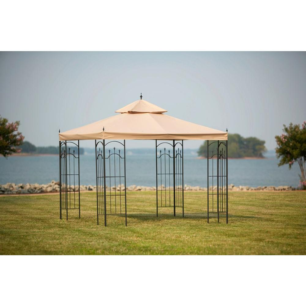 hamptonbay Hampton Bay Replacement Canopy Outdoor Patio for 10 ft. x 10 ft. Arrow Gazebo