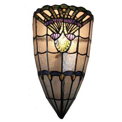 Tan Haiawa 1-Light White and Hand Rolled Art Glass Wall Sconce