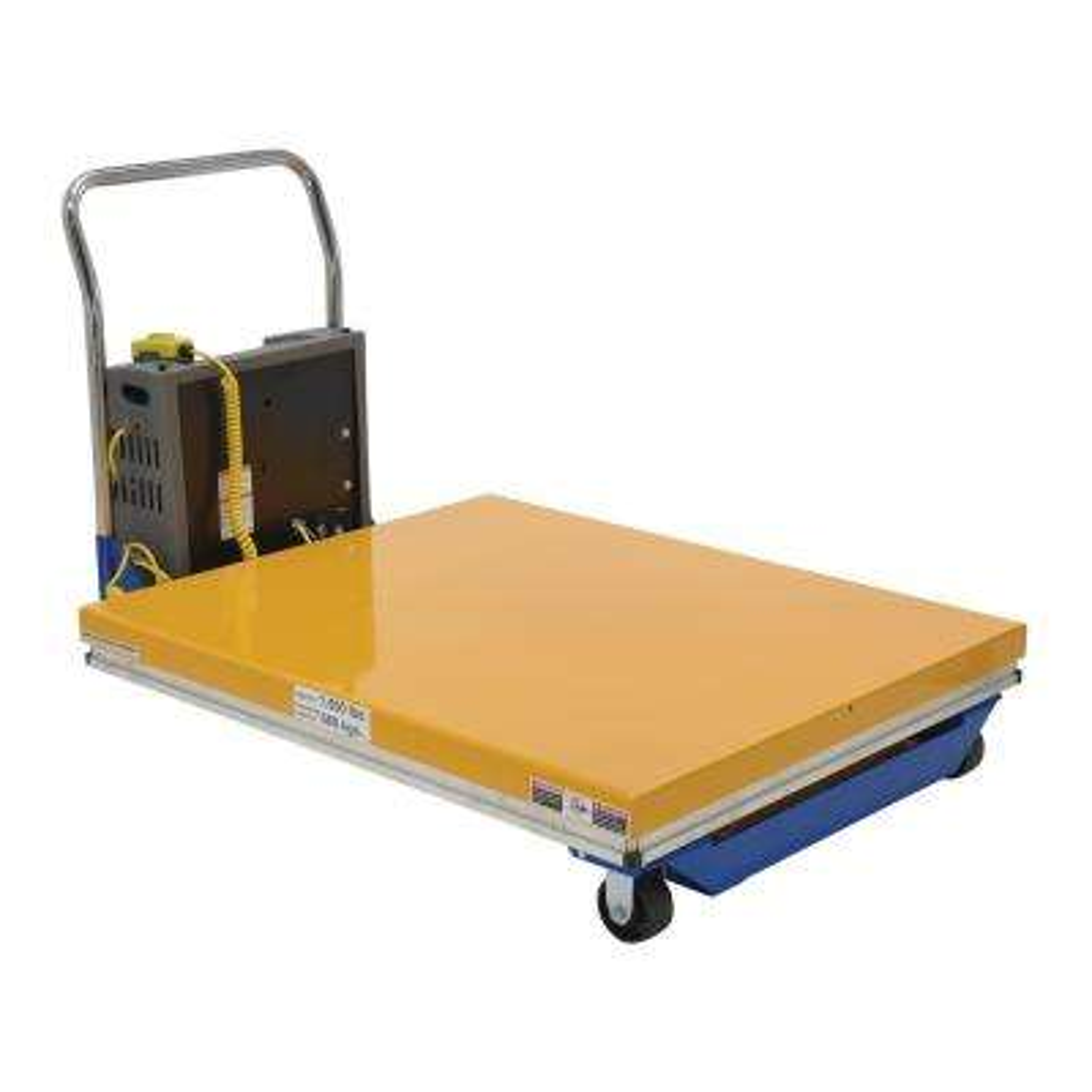 1,500 lb. Capacity 40 x 38 in. Dc Powered Scissor Cart