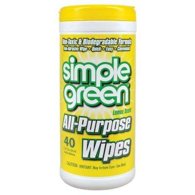 Lemon Scent All-Purpose Wipes (40-Count) (Case of 12)