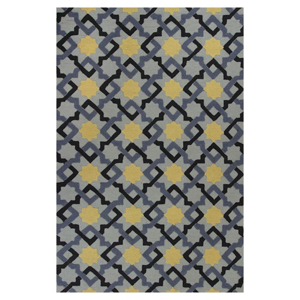 Kas Rugs Patchwork Blue/Beige 3 ft. 3 in. x 5 ft. 3 in. Area Rug