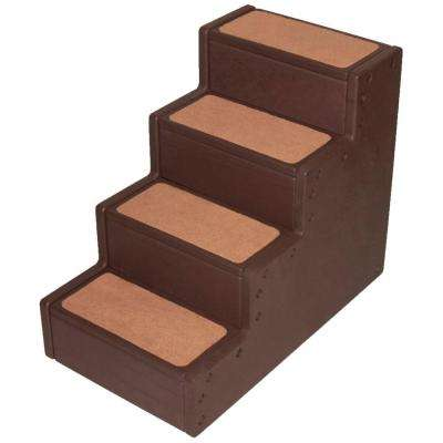 24 in. x 14 in. x 19.84 in. Chocolate Pet Step IV