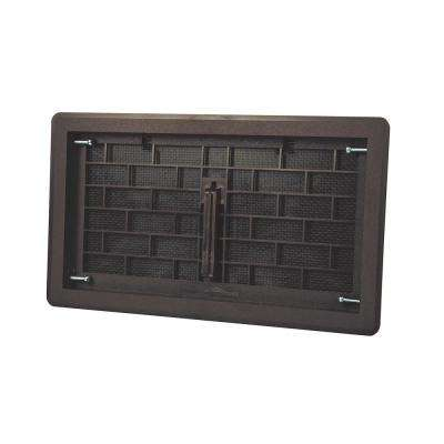 16 in. x 8 in. ABS Plastic Replacement Manual Foundation Vent in Brown