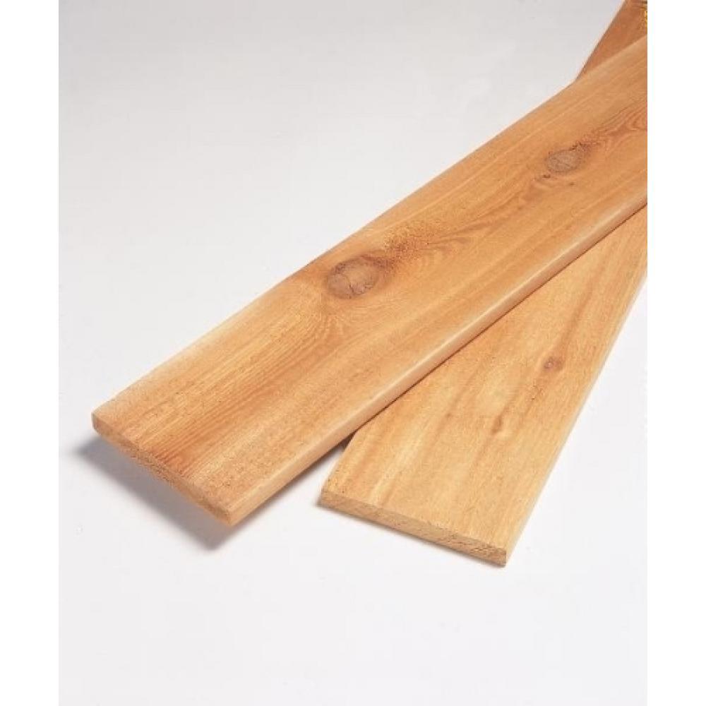 X 6 Ft Premium Cedar Square Edge Board