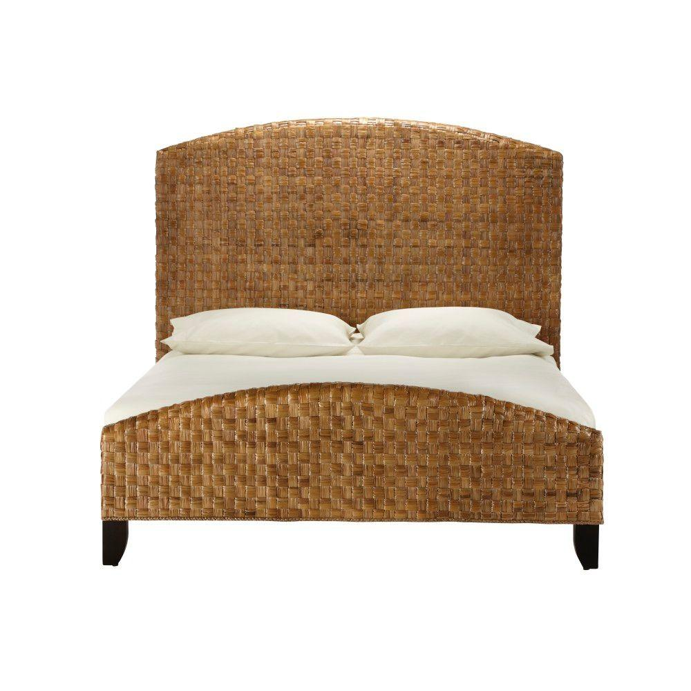 Home Decorators Collection Cabana Leaf Brown 81 in. W King-Size Bed-DISCONTINUED