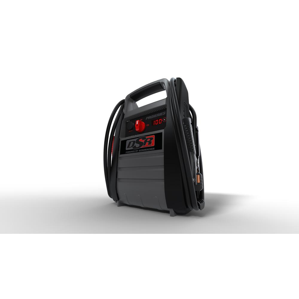 Black Decker 300 Amp Portable Jump Starter J312b The Home Depot Cj 7 Wiring Diagram Alternator Gauge Proseries 12v 2250 Peak With Inverter And Usb