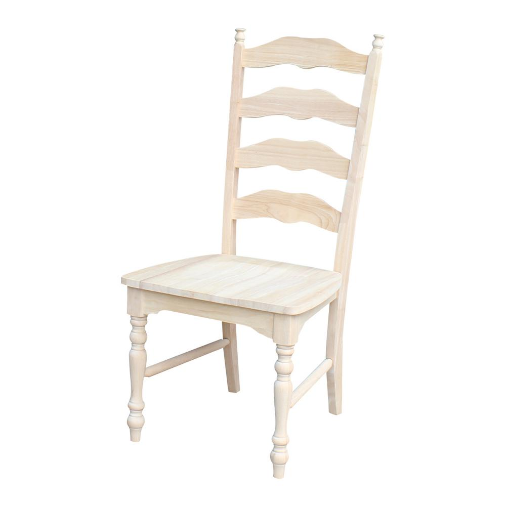 International Concepts Maine Unfinished Wood Ladder Back Dining Chair Set Of 2 C 2170p The Home Depot