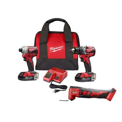 M18 18-Volt Lithium-Ion Brushless Cordless Compact Drill/Impact/Oscillating Multi-Tool Combo Kit (3-Tool)