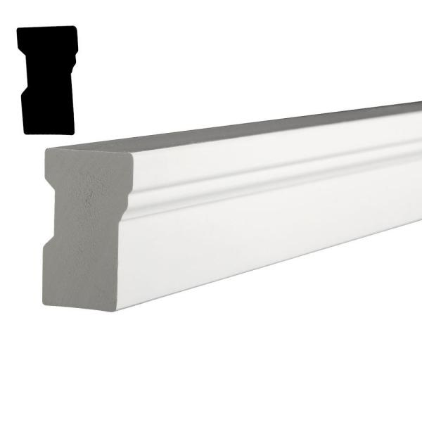 Azek 96 In X 2 In X 1 25 In Composite Pvc White Brick Moulding Armbm02096hd The Home Depot