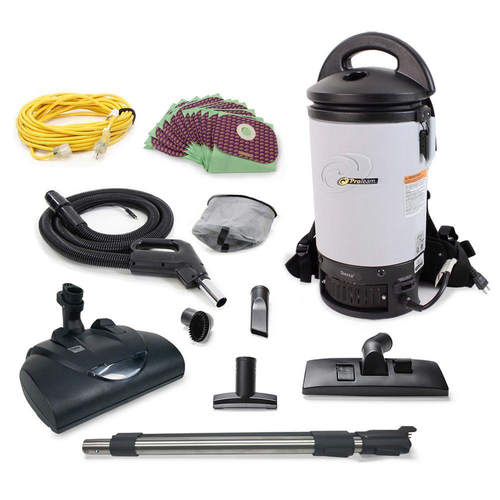 Sierra Commercial Backpack Vacuum with Wessel Werk Head