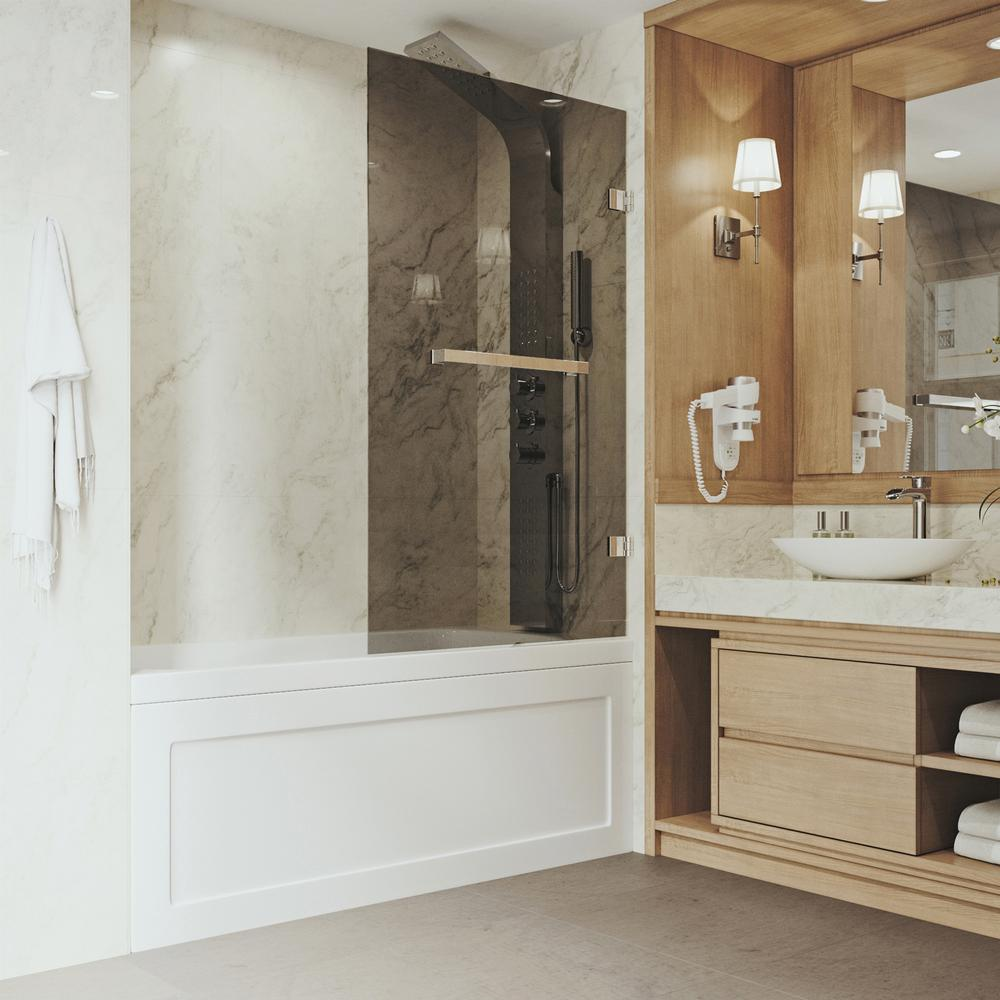 VIGO Rialto 34 In. X 58 In. Bathtub Door With .3125 In.