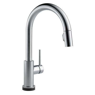Trinsic Touch2O Single-Handle Pull-Down Sprayer Kitchen Faucet (Google Assistant, Alexa Compatible) in Arctic Stainless