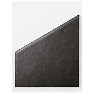 Hexatile Matte Nero Porcelain Floor and Wall Tile - 3 in. x 4 in. Tile Sample