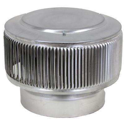 Aura PVC Vent Cap 8 in. Dia Exhaust Vent with Adapter to Fit Over 8 in. PVC Pipe in Mill Finish