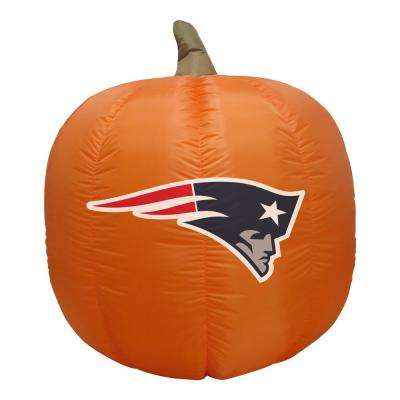 4 ft. New England Patriots Inflatable Pumpkin