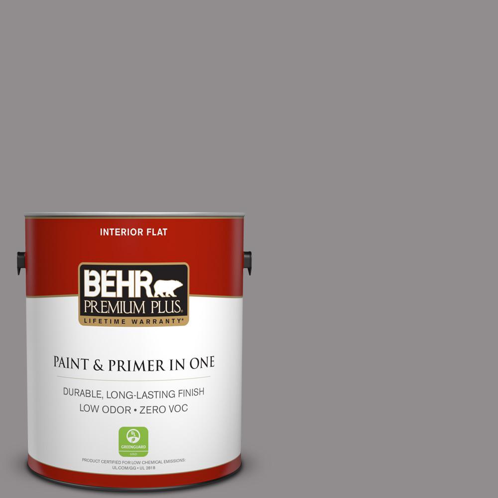1 gal. #PPU16-14 Plum Smoke Zero VOC Flat Interior Paint