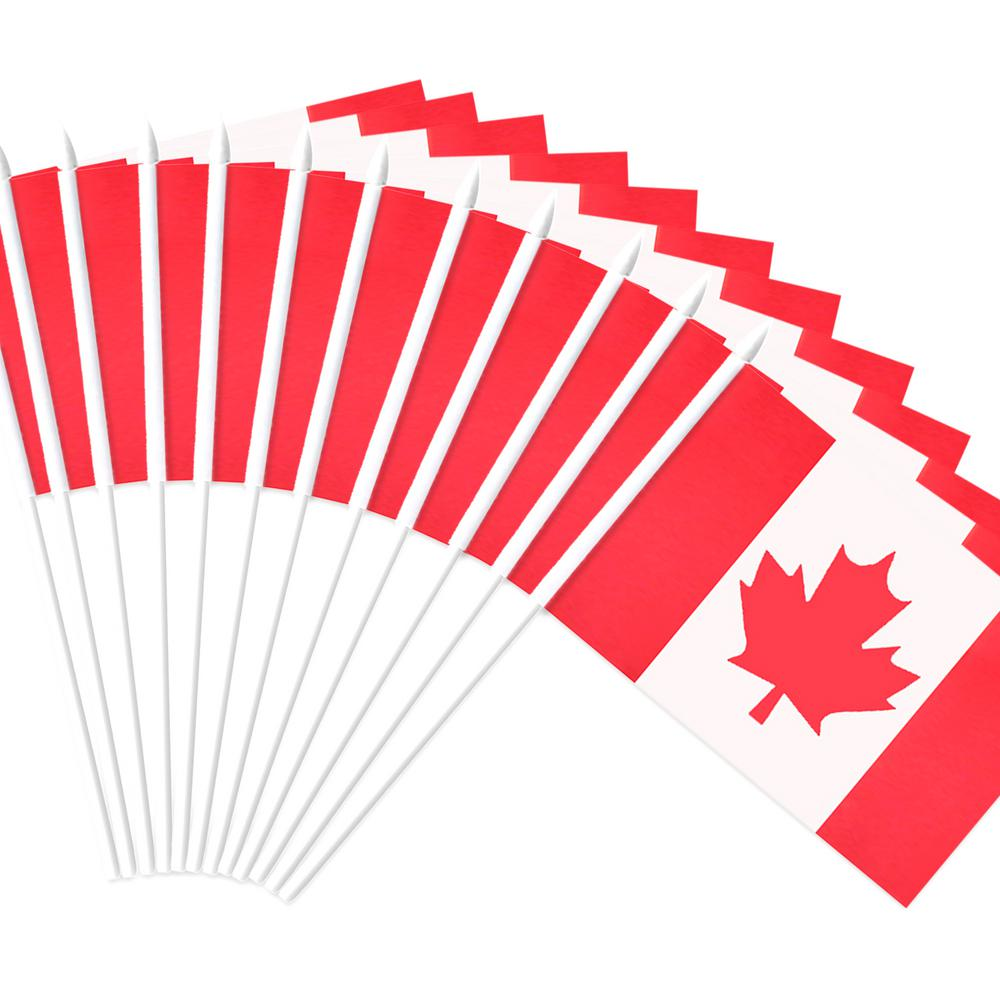 Anley Canada Stick Flag Canadian 5 In X 8 In Handheld Mini Flag
