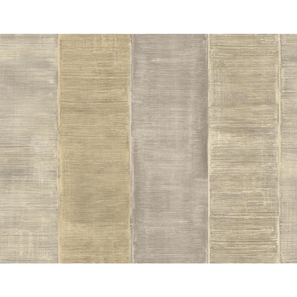 Palladium Metallic Champagne and Ivory Striped Wallpaper