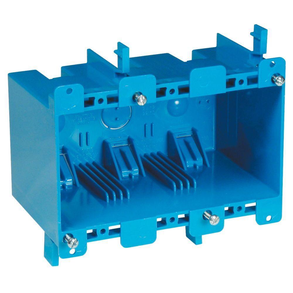 3-Gang 55 cu. in. Old Work PVC Electrical Box