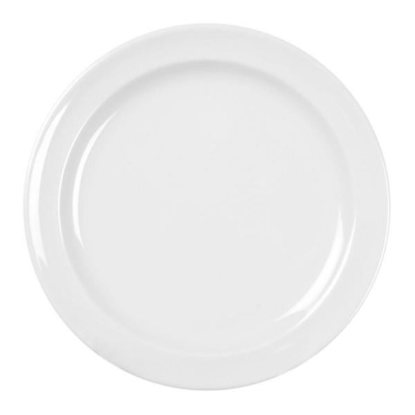 Restaurant Essentials Coleur 8 in. Dinner Plate in White (12-Piece)