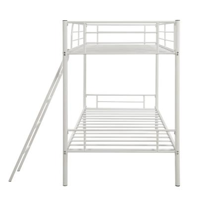 56.5 in. White Urban Over Size Metal Twin Bunk Bed