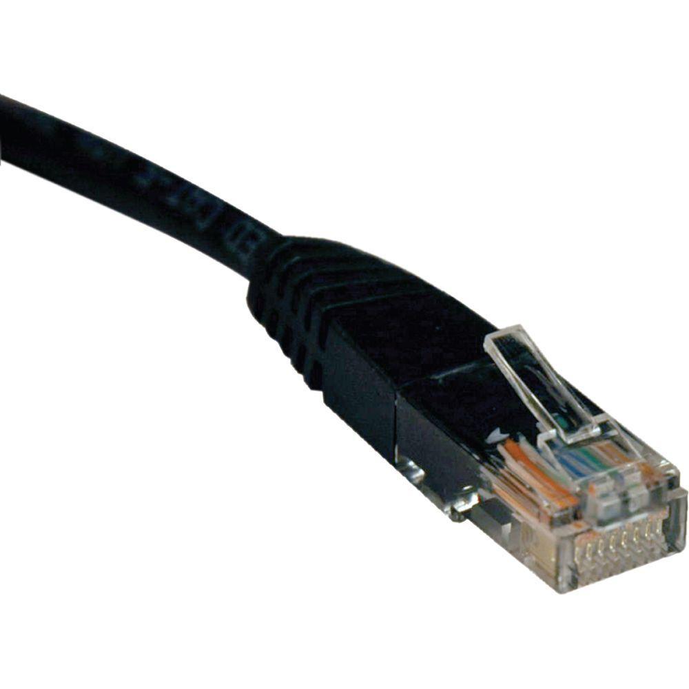 6 ft. Cat5e / Cat5 350MHz Molded Patch Cable RJ45 M/M, Black