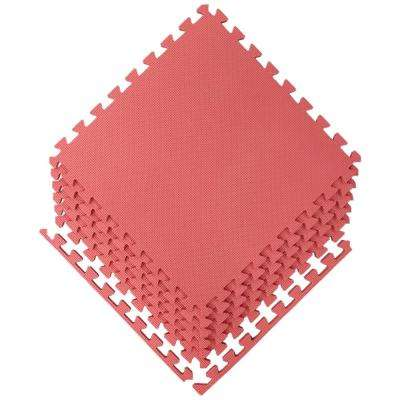 Multi-Purpose Red 24 in. x 24 in. EVA Foam Interlocking Anti-Fatigue Exercise Tile Mat (6-Pack)