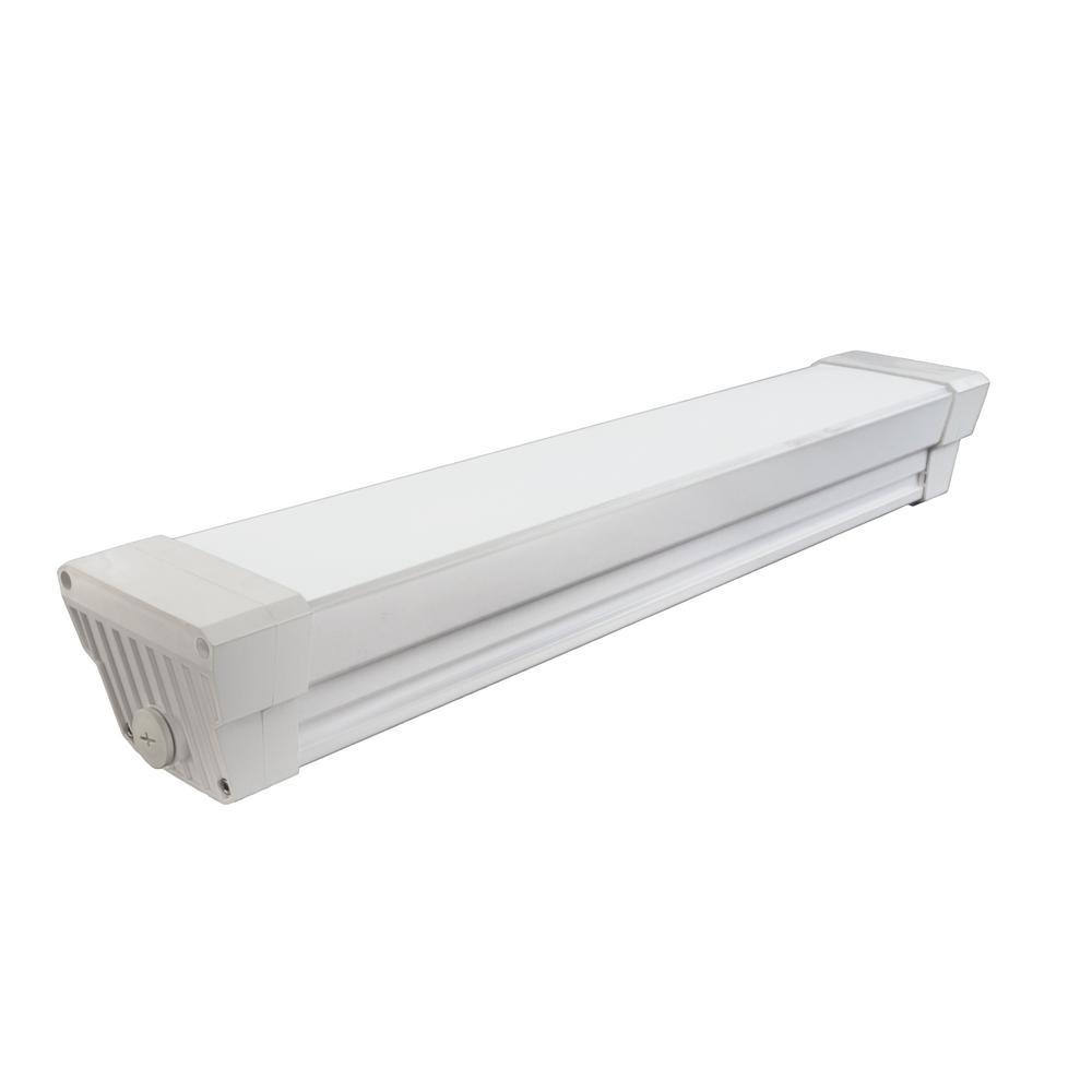 Vaportite Series 150-Watt White 2 ft. Integrated LED Vaportite Strip Light in 4000K