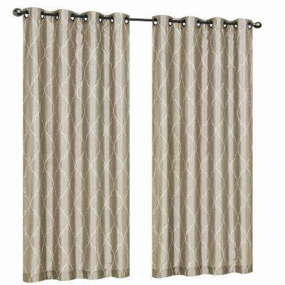 Hourglass Embroidered Lined Curtain