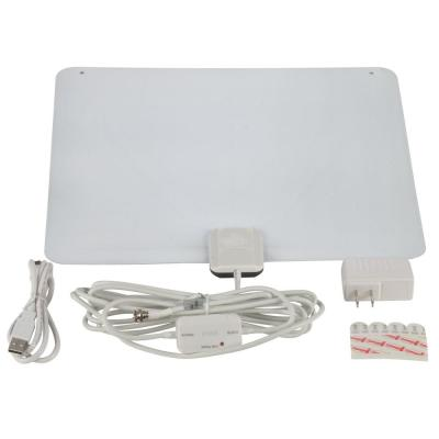Amplified Indoor Ultra-Thin Multi-Directional HDTV Antenna with 65-Mile Range
