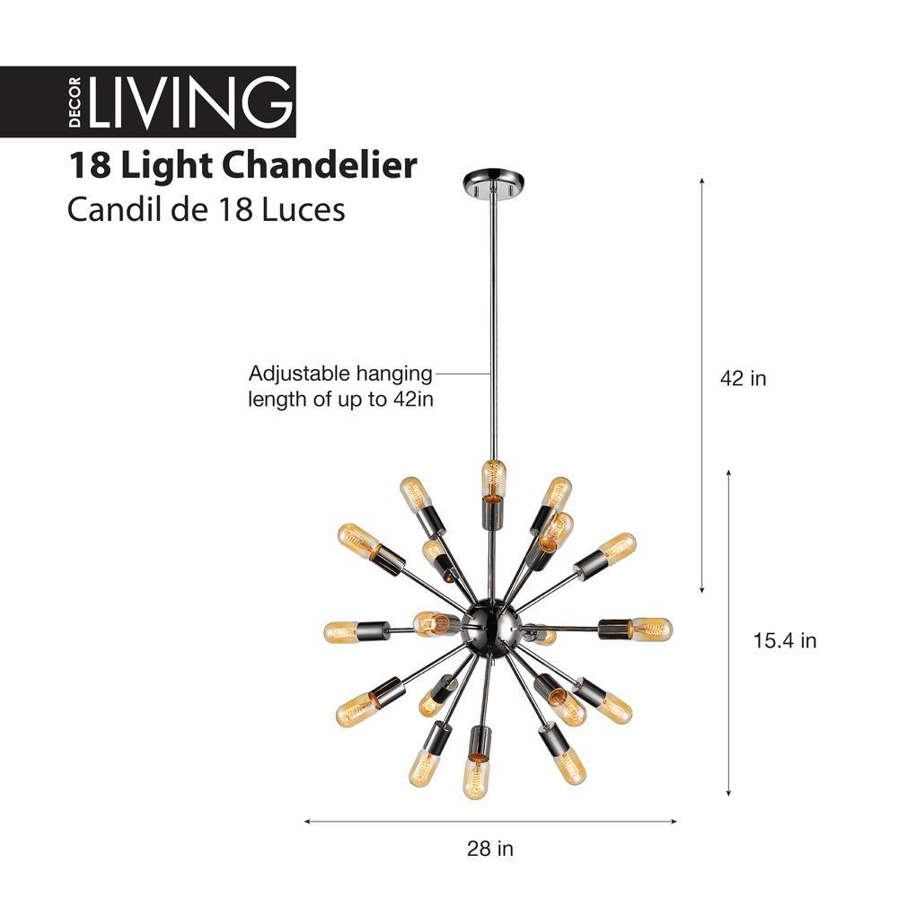 Light Polished Nickel Chandelier