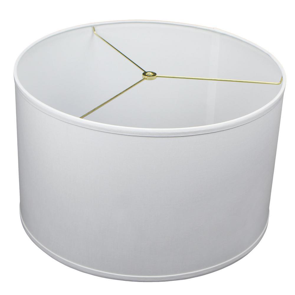18 in. Top Diameter x 18 in. Bottom Diameter x 11 in. H Linen White Drum Lamp Shade