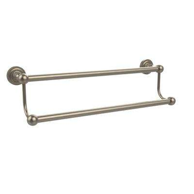Dottingham Collection 24 in. Double Towel Bar in Antique Pewter