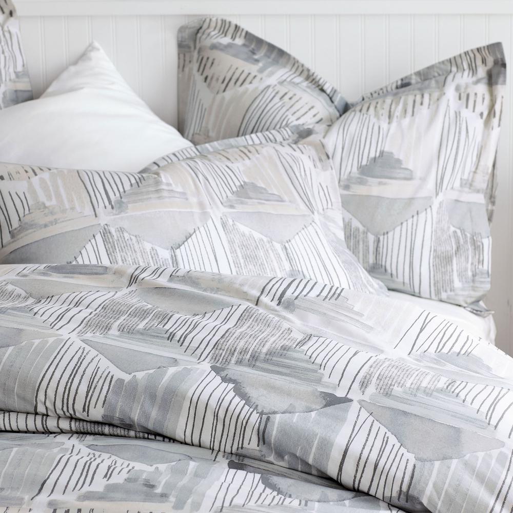 Silhouette 200-Thread Count Organic Cotton Percale Duvet Cover Set