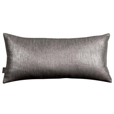 Glam Gray Zinc Solid Polyester 5 in. x 22 in. Throw Pillow