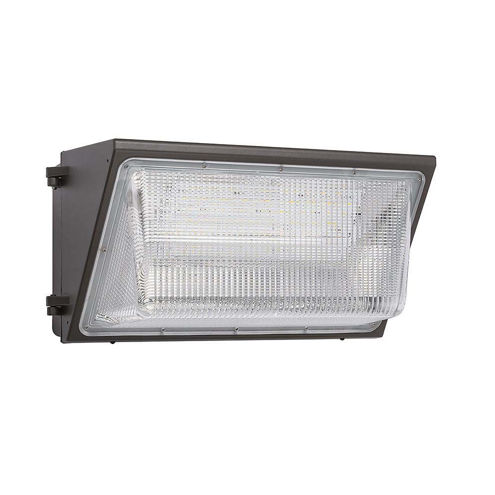 400-Watt Equivalent Integrated LED Bronze 18 in. Outdoor Wall Pack Light 5000K Photocell Compatible 10,000 Lumens