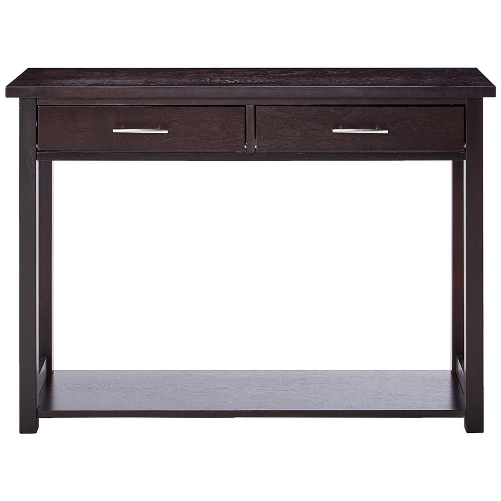 Inroom Designs Espresso Minimalist Entryway Console Table With