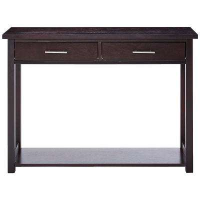 Espresso Minimalist Entryway Console Table with Drawers