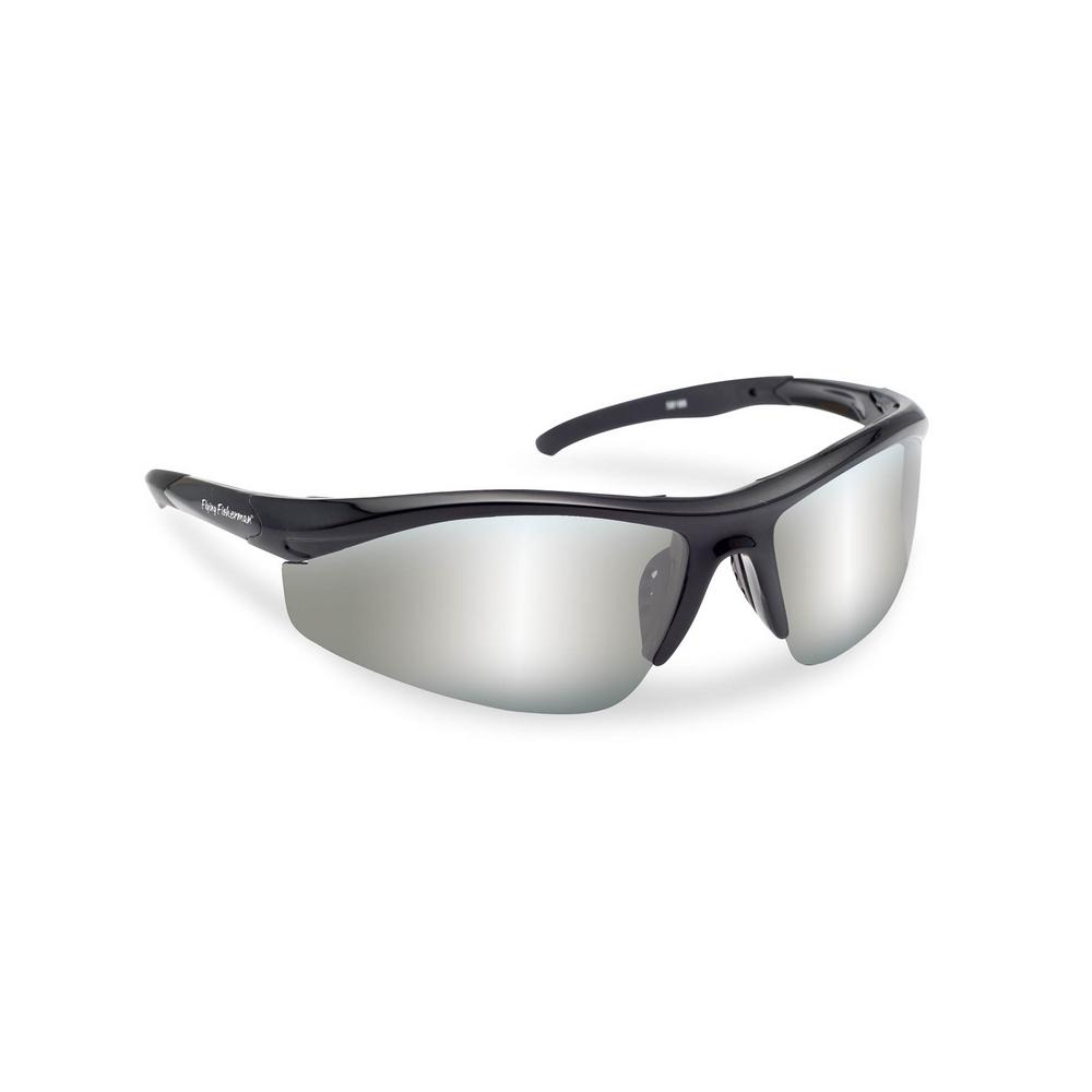 7c929ab3cad25 Flying Fisherman Spector Polarized Sunglasses in Black Frame with Smoke  Silver Mirror Lens