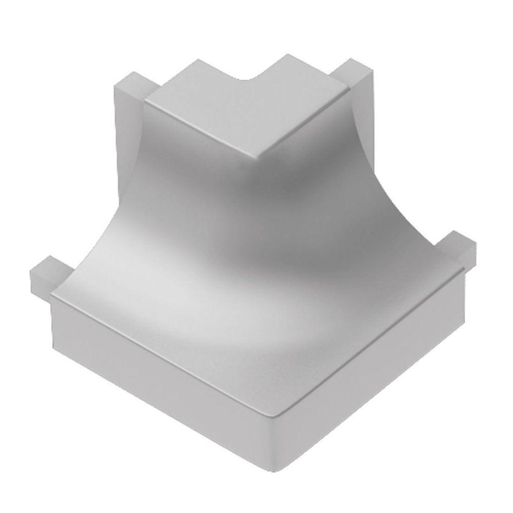 Dilex-AHK Satin Anodized Aluminum 1/2 in. x 1 in. Metal 90 Degree Square Outside Corner