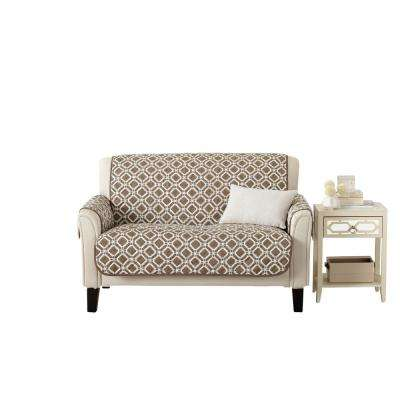 Liliana Collection Fossil Brown Printed Reversible Loveseat Furniture Protector