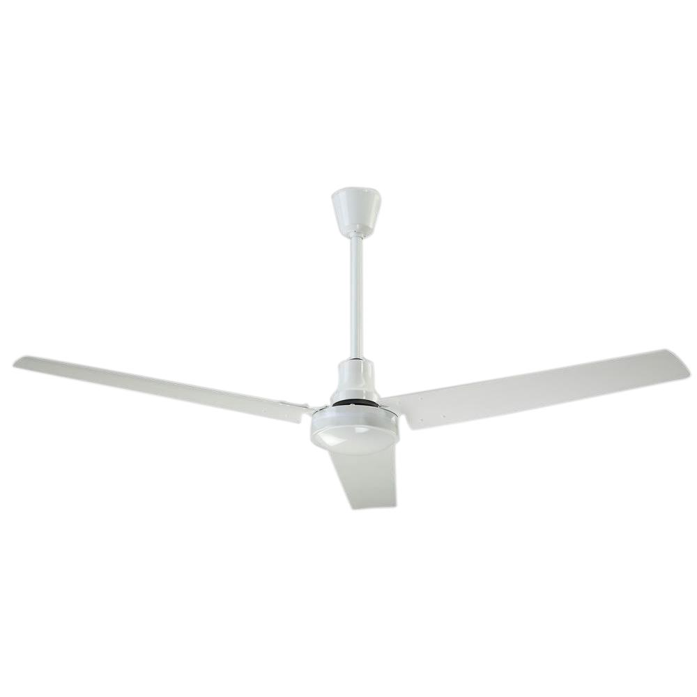 CANARM 60 in. Indoor White High Performance Industrial Ceiling Fan