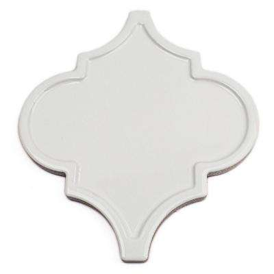 Vintage Lantern White Ceramic Mosaic Floor and Wall Tile - 0.31 in. x 0.31 in. Tile Sample