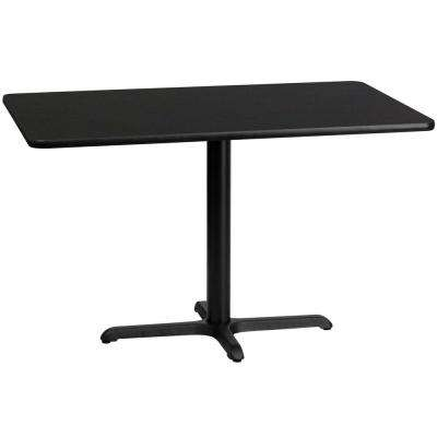30 in. x 48 in. Rectangular Black Laminate Table Top with 22 in. x 30 in. Table Height Base