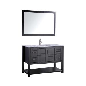 MTD Vanities Norway 48 inch H x 22 inch D x 36 inch H Vanity in Espresso with Marble Vanity Top in White with... by MTD Vanities