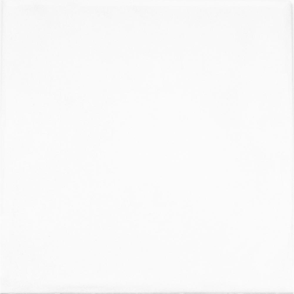 Handspun White 6 in. x 6 in. Ceramic Wall Tile (10
