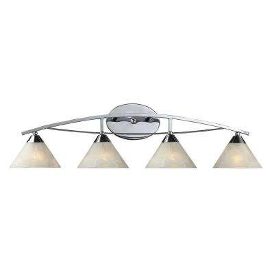 Elysburg 4-Light Polished Chrome Wall Vanity Light